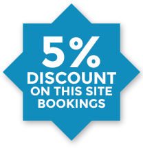 5% OFF on this site bookings